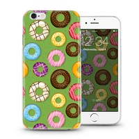 Hot selling mobile cover case for iPhone 4 5 6 plus soft tpu protector with cute donuts design
