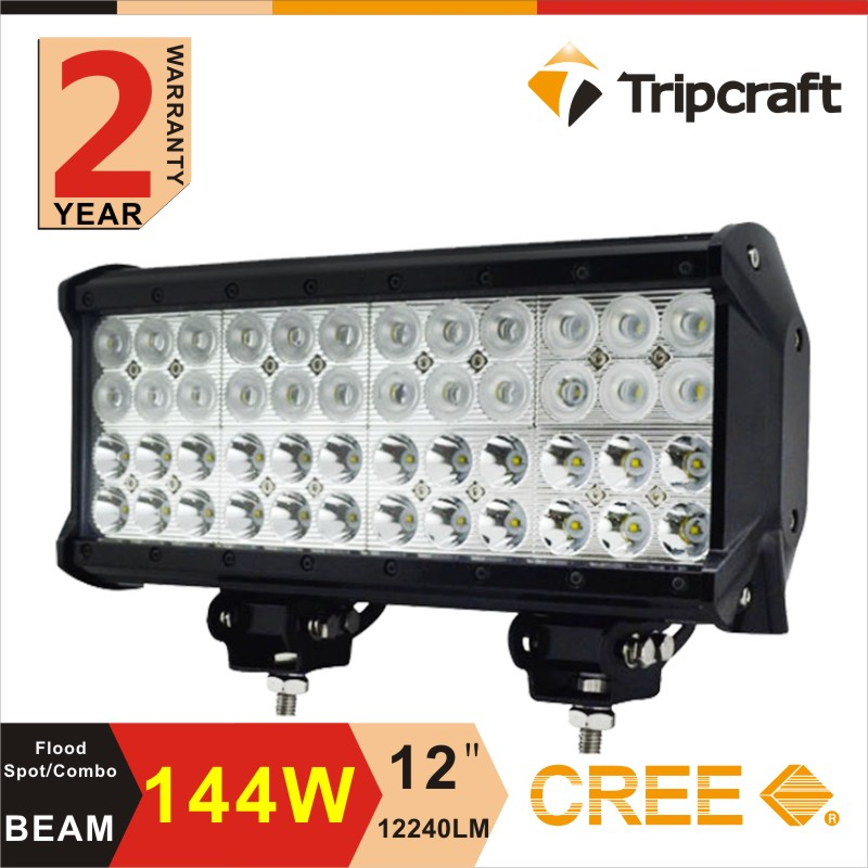 4 row led driving light for towing , 12inch emergency lights 144w combo led light bar for tow trucks