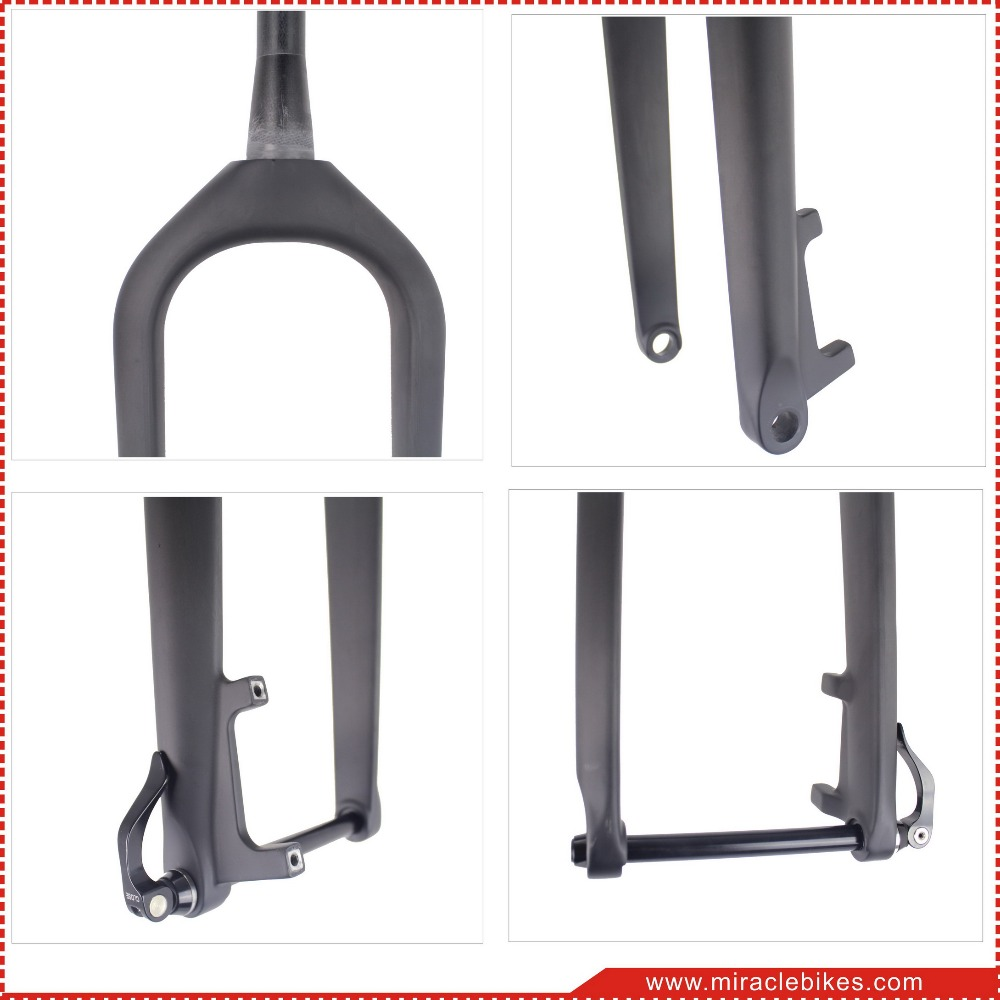 150mm carbon fat bike fork UD Matt full carbon fiber fat bicycle fork carbon fork