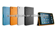 360 rotation case for iPad mini plain leather case