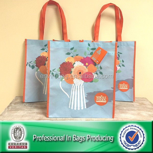 Sublimation Printed 100% Post-consumer Bottles PET Non Woven Bag