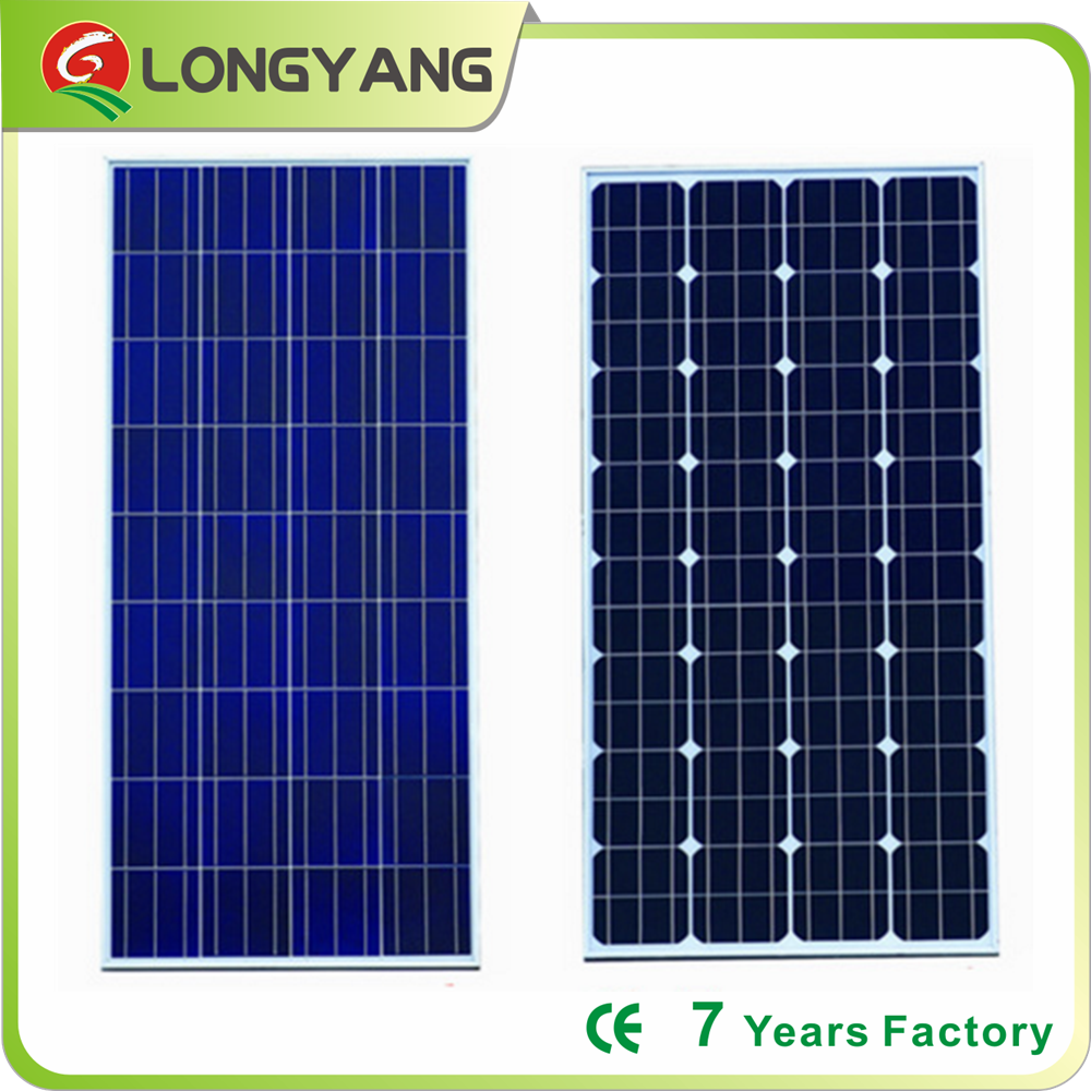 High efficiency solar cell poly solar panel 150W for complete solar system