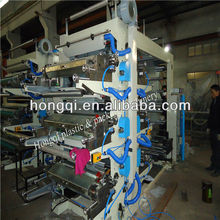 6 Color Flexographic Printer/roll plastic film Printing Machine