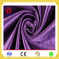 New Products 2017 Plain Solid 100 Polyester Silk Velvet Fabric For Sofa