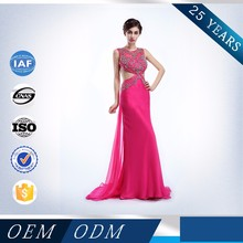 China Supplier Sexy Backless Mermaid Wholesale Long Red Prom Dresses Guangzhou
