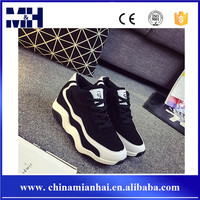 New black and white splicing high ankle fashion girls sports shoes