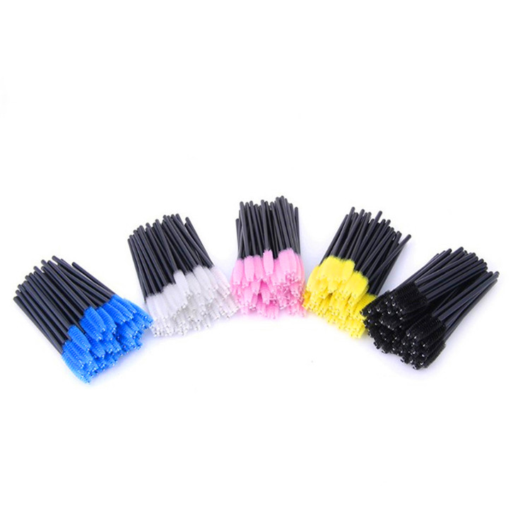 Wholesale 1PC Makeup Tool Double Eyebrow Brush With Eyebrow Comb Disposable Eyelash Brush