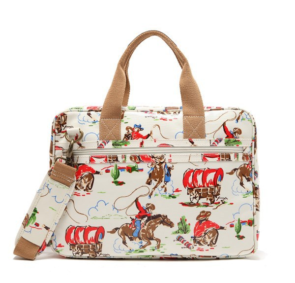 Waterproof Fabric With Different Printing Design Beatiful Ladies Handbag For Laptop School Bag For Girls