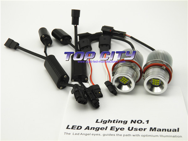 TOPCITY Best Selling 9PCS*XBD 7000K White 1200LM Canbus 45W Halo Ring Error Free Led Bulbs For BMW E39 X3 X5 M5 M6 Car Accessory