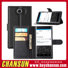 Top selleing in alibaba leather wallet phone case for blackberry priv