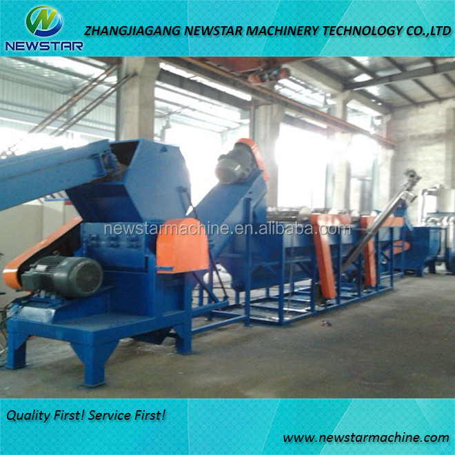 Wasted plastic garbage recycling machine PE PP washing plant