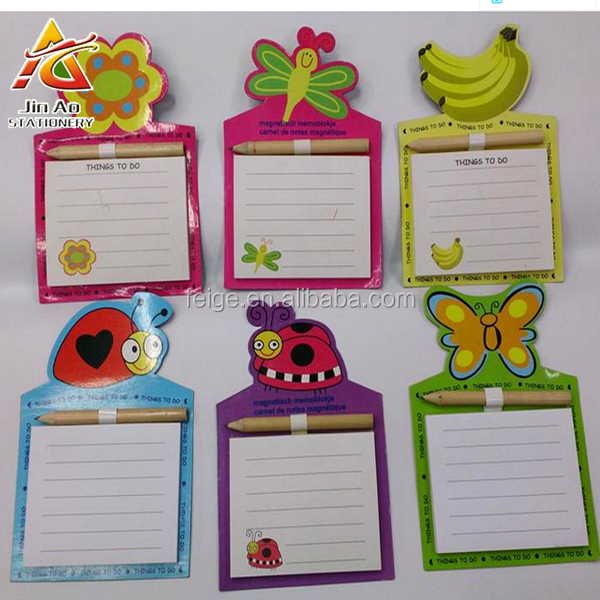 Memo Pads Style and Yes Customized Magnetic shopping list