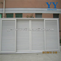 Powder Coating Aluminium Louvered Air Vents Door with Sliding Design and Fix Blades