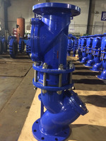 Backflow preventers combine of y strainer and dual plate check valve and rubber disc swing check valve