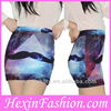 Free Shipping Wholesale Harajuku Moustache Printed Short Skirt