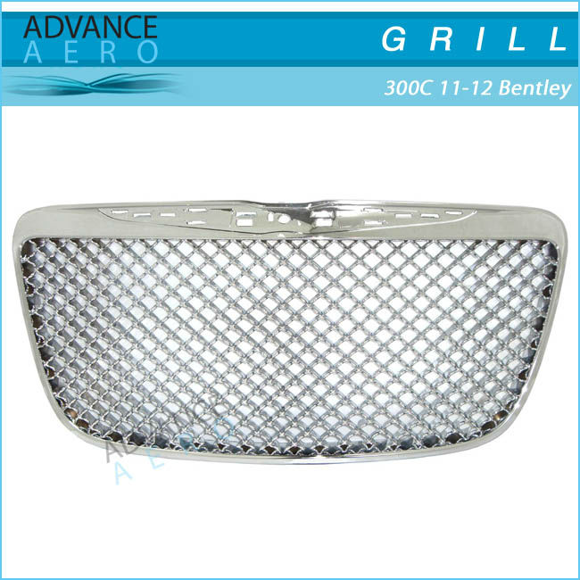 FOR 2011-2012 CHRYSLER 300C Z GRILLE CHROMED BENTLEY STYLE FRONT HOOD GRILL