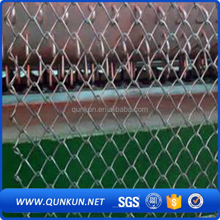 "11.5 Gauge,2-1/4"" Mesh,Selvage,GBW Hot Dipped Galvanized <strong>K</strong> - <strong>K</strong> Chain Link Fabric wire mesh fence"