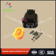 1J0973702 PA66 black 2 Way Sealed Female 1.5 mm wire harness Connector For VW Audi A4 A6 A8 Q5 Q7