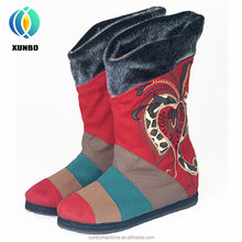 2017 New Design Embroidered china wholesale women boots