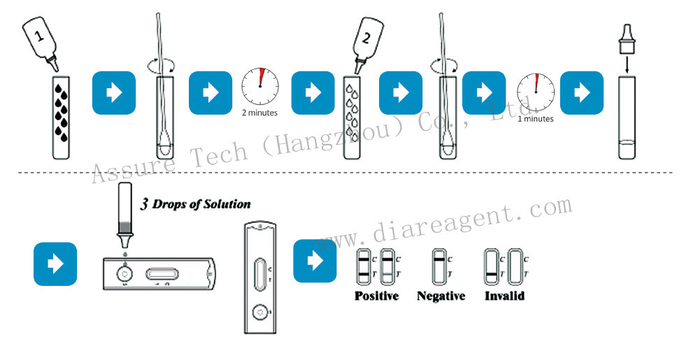 Medical diagnostic Chlamydia rapid test kit for professional use