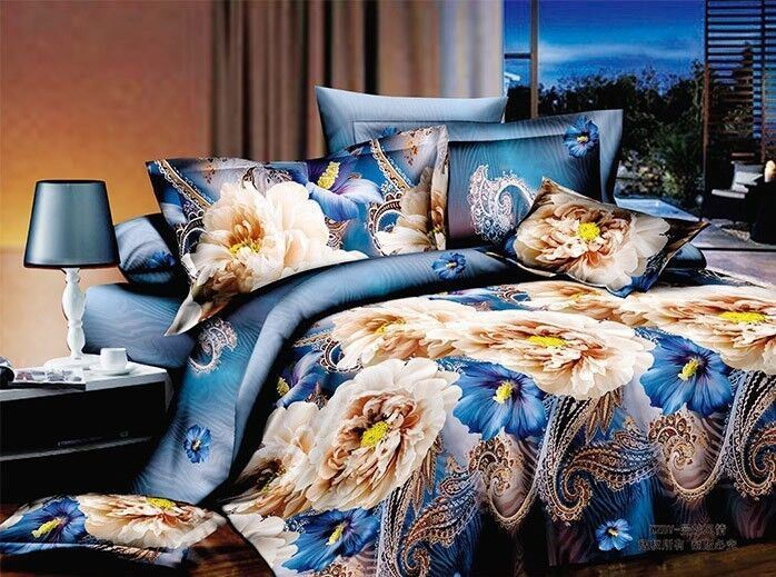 3D Printed 2014 Wholesale Cheap Multi Colour Thread Bedsheet And Bedspread