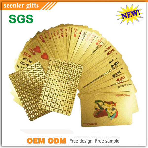 hot selling gold playing <strong>cards</strong>