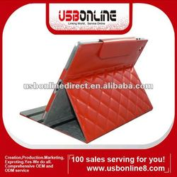 New PU Leather Cover Case for iPad 2,ipad 3 Red