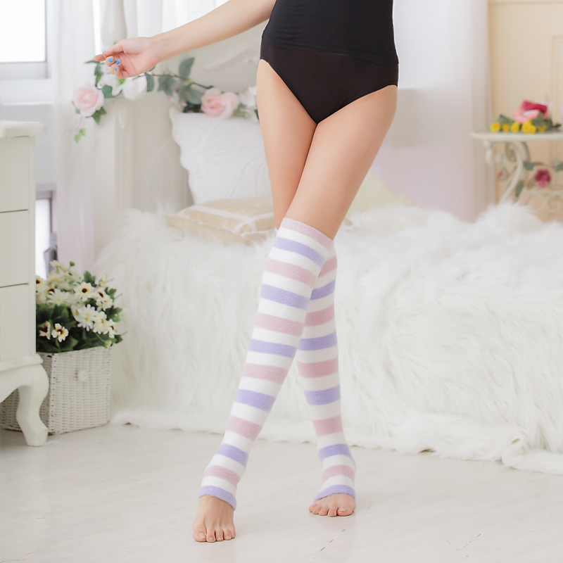 Soft Touch Fancy Thicken Tube Heated Thermal Socks For Women W95