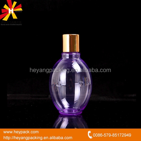 100ml PET body lotion empty cosmetic oval bottle