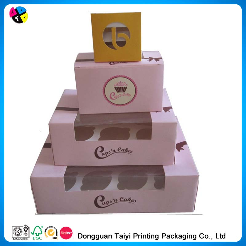 Hot sale clear acetate cupcake boxes