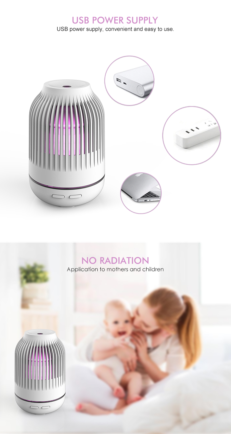 Home use Aromatherapy air Humidifier led colorful 120ml ultrasonic aroma diffuser