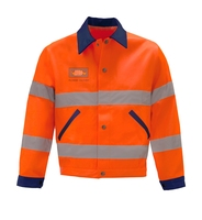 EN20471 rounded corner sleeves work wear safety clothes with reflective tape