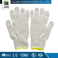 keep safe working knitted craft non slip white cotton gloves price