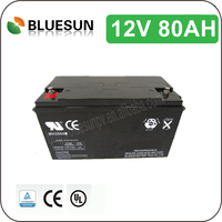 Bluesun good price 12v 80ah marine battery for trolling motor for solar system with ISO CE ROHS UL Certificate