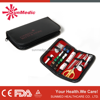 High Quality Factory Wholesale Portable Mini Travel PU or Nylon sewing kit