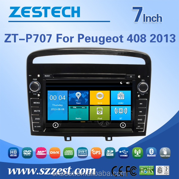 factory supply 7-inch car dvr gps navigation for PEUGEOT 408 2013