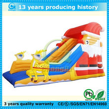 fashion christmas design backyard cheap inflatable water slide, inflatable slide christmas themem