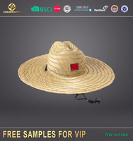 OEM factory promotional parallel hollow straw hats with BSCI