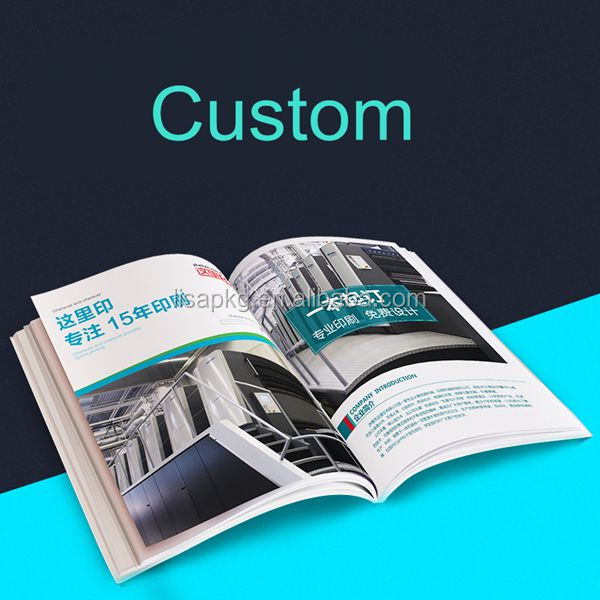 Paper packaging factory do cheap garment shoe brochure booklet printing