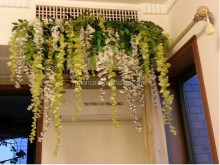 Artificial wisteria flower fabric hanging wisteria for wedding decoration