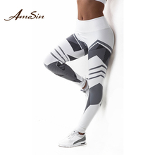 Amesin BP3037 Tight Seamless Women Nylon Fitness Gym Leggings