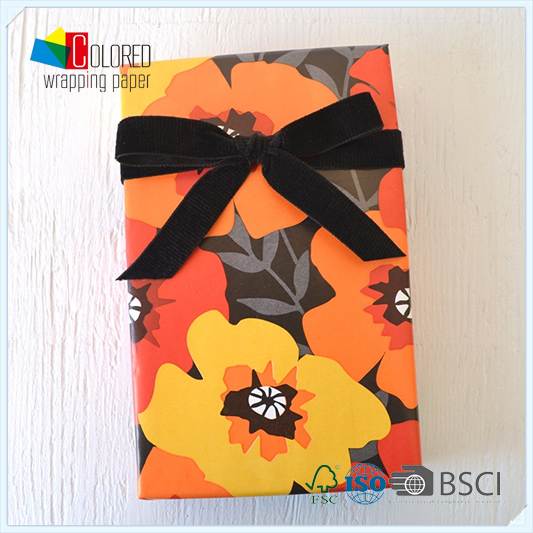 Papaver Rhoeas Poppies Poppy Gift Packaging Paper Sheets Customed Design
