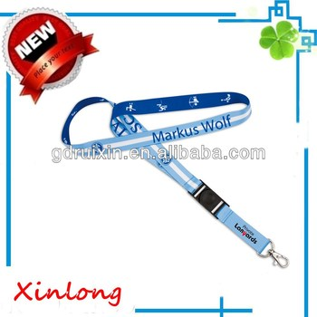 3/4inch heat transfer print lanyard with the plastic release and other accessories