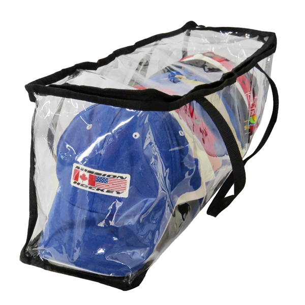 baseball hat and cap storage bag large plastic clear pvc zippered storage bag