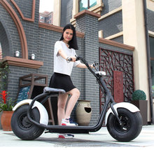 Europe electric scooter 2017 adult eec fat tire electric motorcycle 1000w 2000w city coco 2 seat mobility scooter