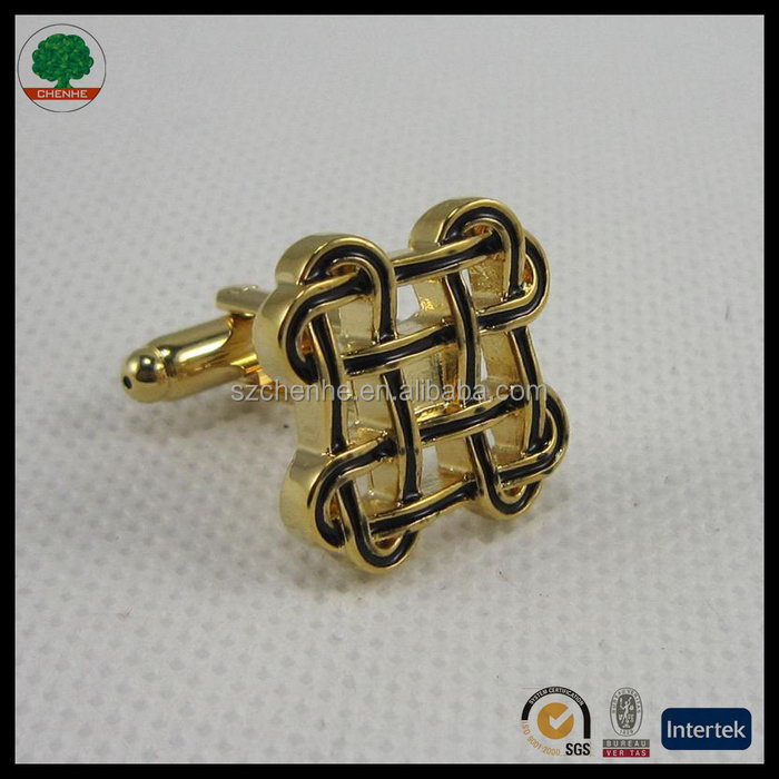 Top level stylish china brass 5 gear stick cufflink