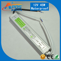 waterproof ip67 transformer for all led lighting 12V 45W switching power supply