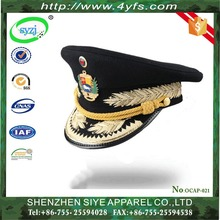 OEM Customized military peaked cap, officer hat