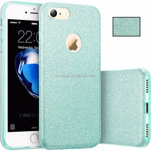 The new design hot selling flash three-in-one TPU soft case drop back cover for iphone6/7