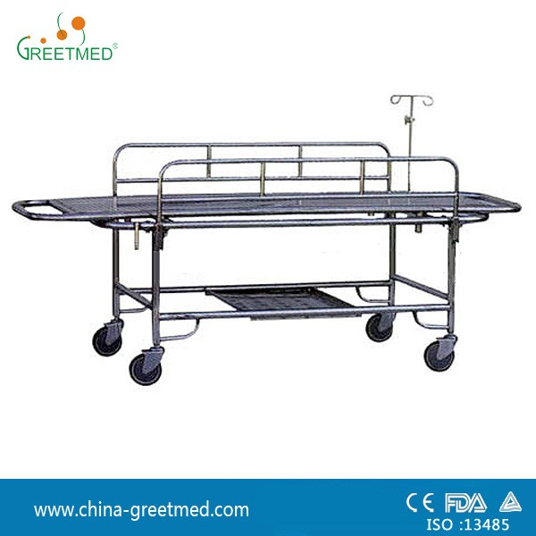 hospital medical stainless steel patient stretcher trolley